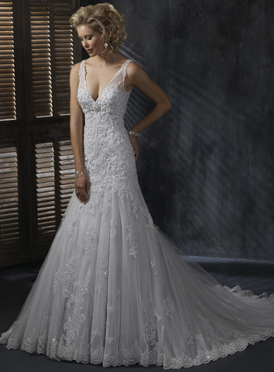 Maggie Sottero Lace Wedding Dress 108