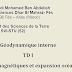 [SVI-S2] - TD 1 de géodynamique interne, avec corrigé