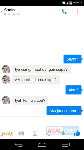 percakapan palsu Facebook Messenger