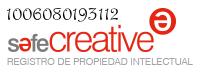 Toda mi obra está registrada en Safe Creative