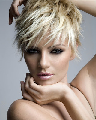 Messy Womens Short Thick Hairstyle