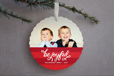 ornament card, holiday card, hand lettering
