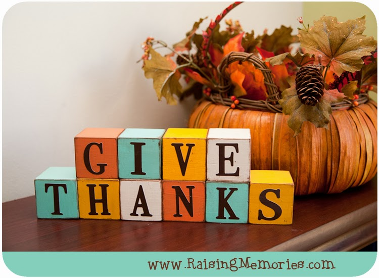 Wooden Blocks Fall Decor by www.RaisingMemories.com #shop