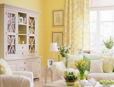 Decoracion actual de moda c mo decorar una habitaci n con - Decoracion salon amarillo ...
