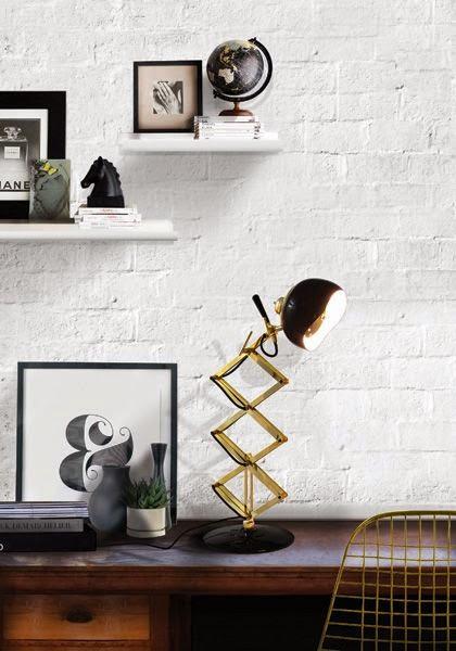 lampara vintage industrial mesa