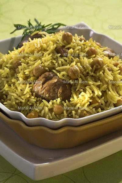 ارز باللحم والحمص