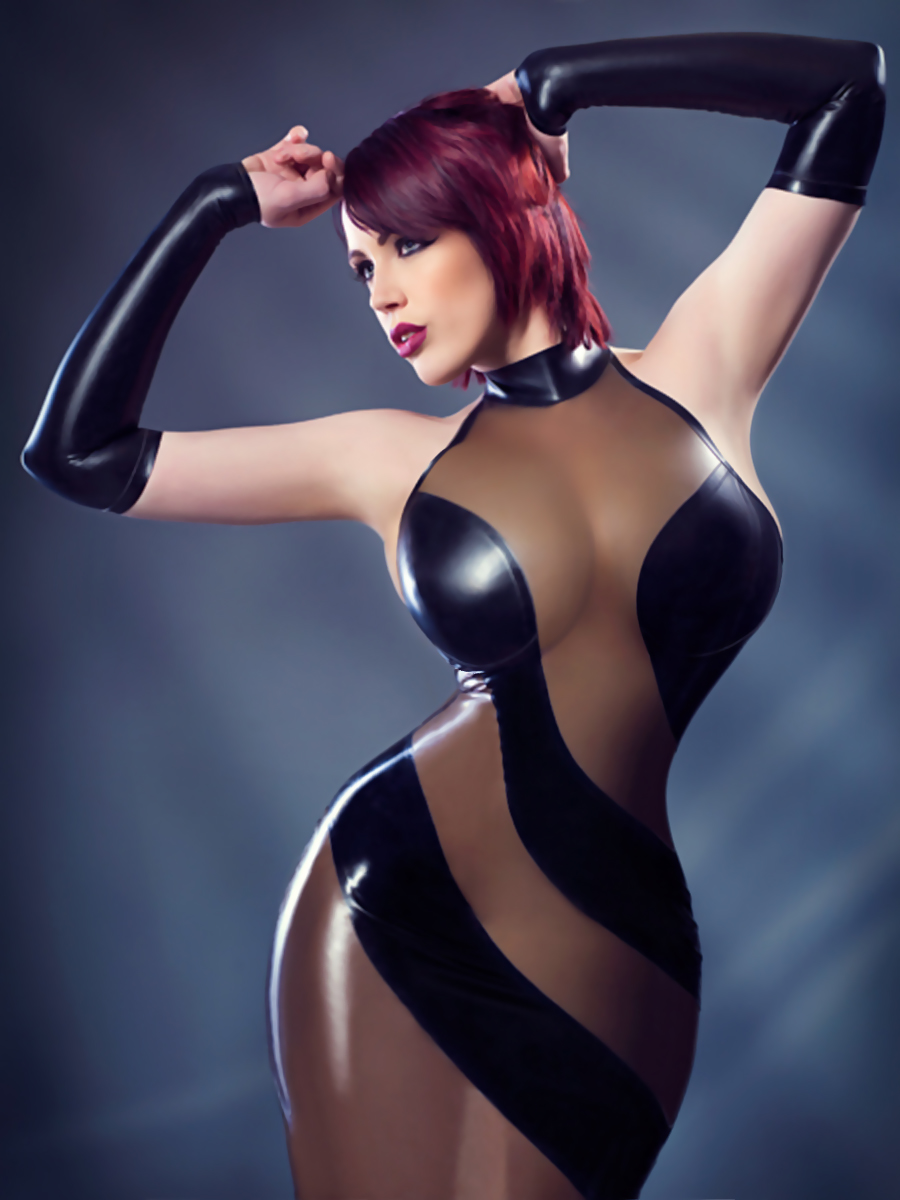 Latex nude girls full body