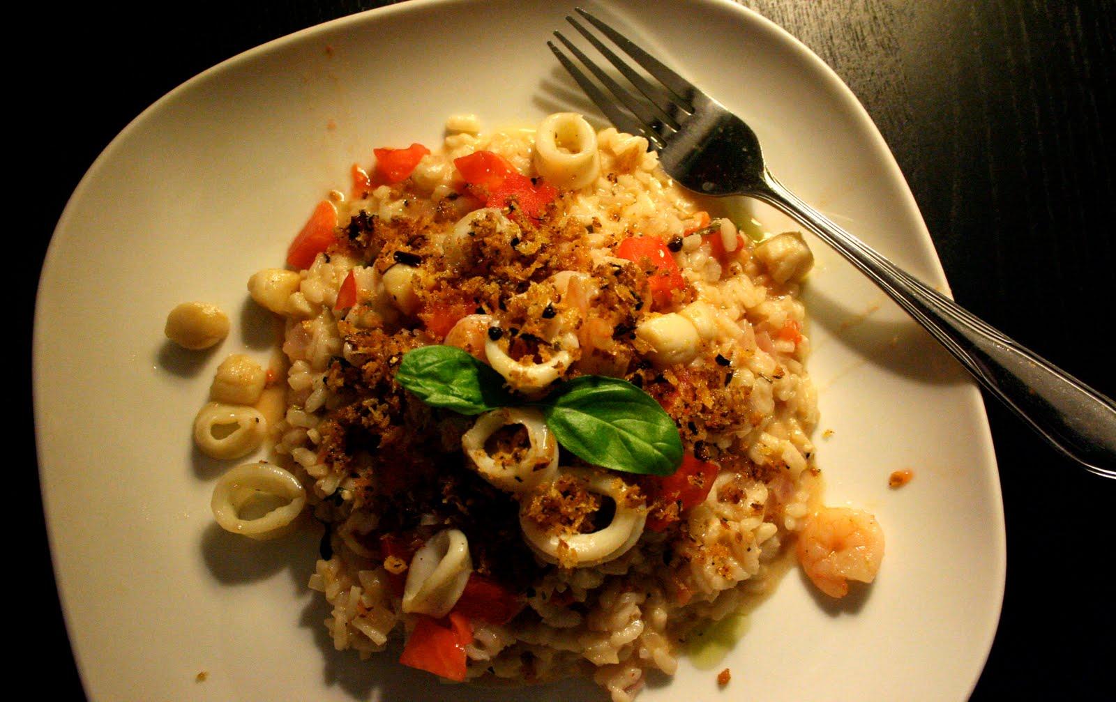 Seafood Risotto with Spicy Pangrattato | Egilsgata Kitchen