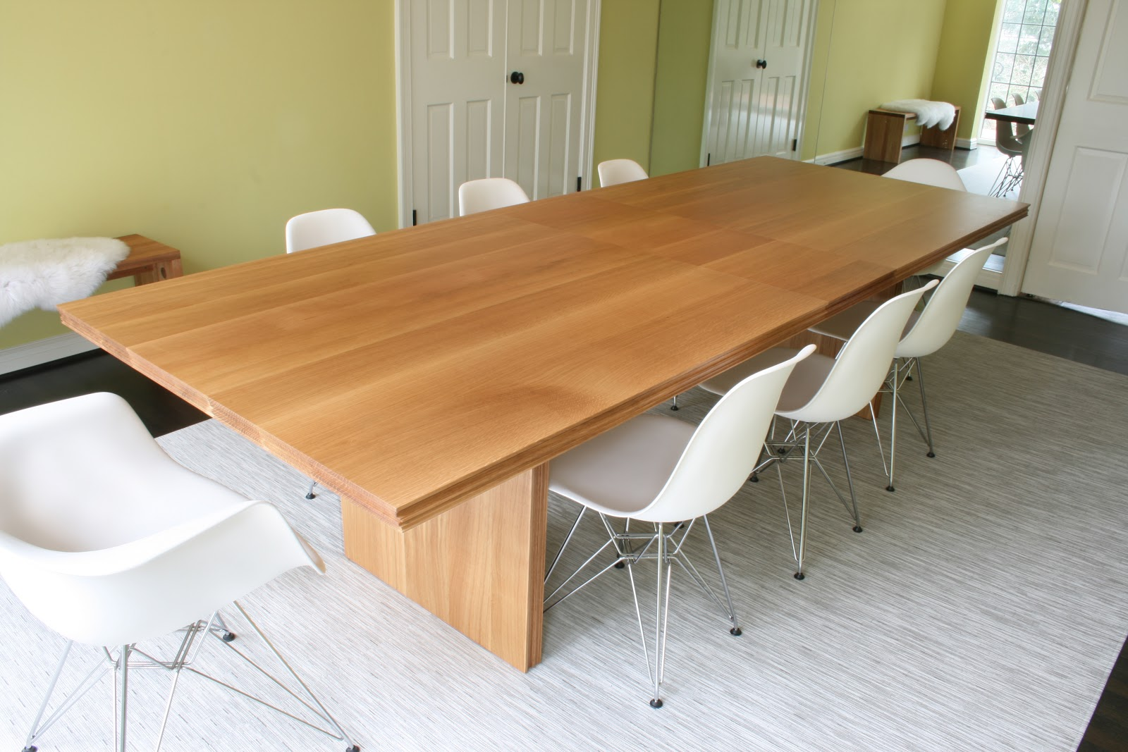 White Oak Table ~ White oak dining table made modern designs for