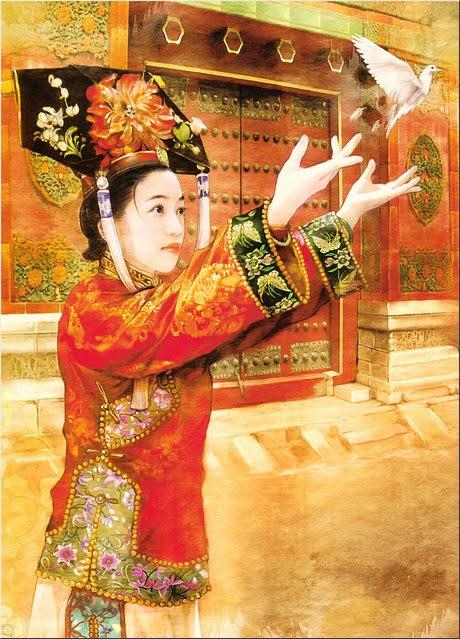 pintura chinesa pomba