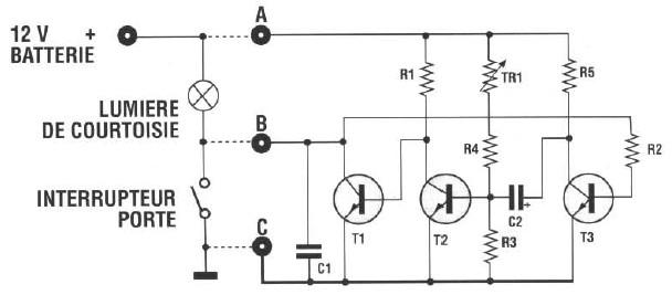schema electronique electrique montage realisation schema temporisateur pour lumieres de. Black Bedroom Furniture Sets. Home Design Ideas