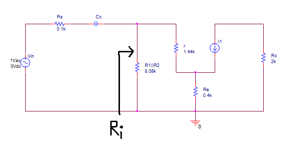 input impendence of BJT amplifier