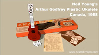 Neil Youngs plastic ukulele