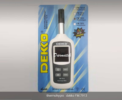 Jual DEKKO FM 7913 Thermohygro Meter Harga terjangkau di Jakarta Selatan