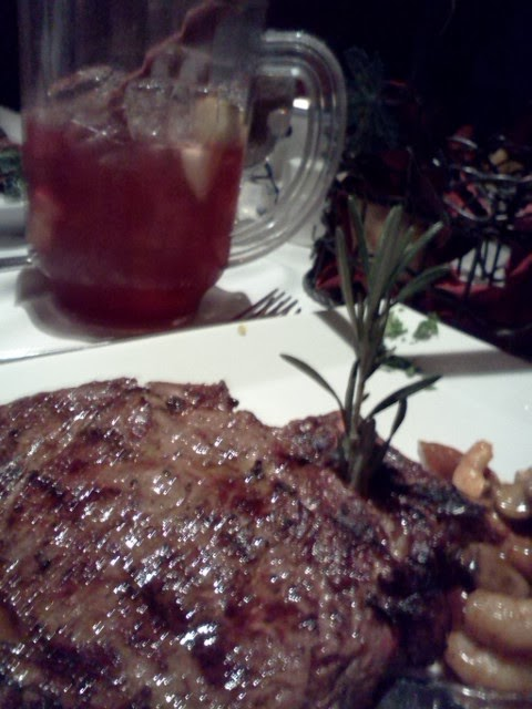 Steak and Sangria t Adega Grill in Newark, NJ