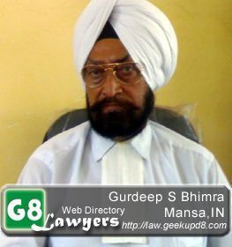 Advocate Gurdeep Singh Bhimra, District Courts Mansa, Punjab, India [G8Lawyers]
