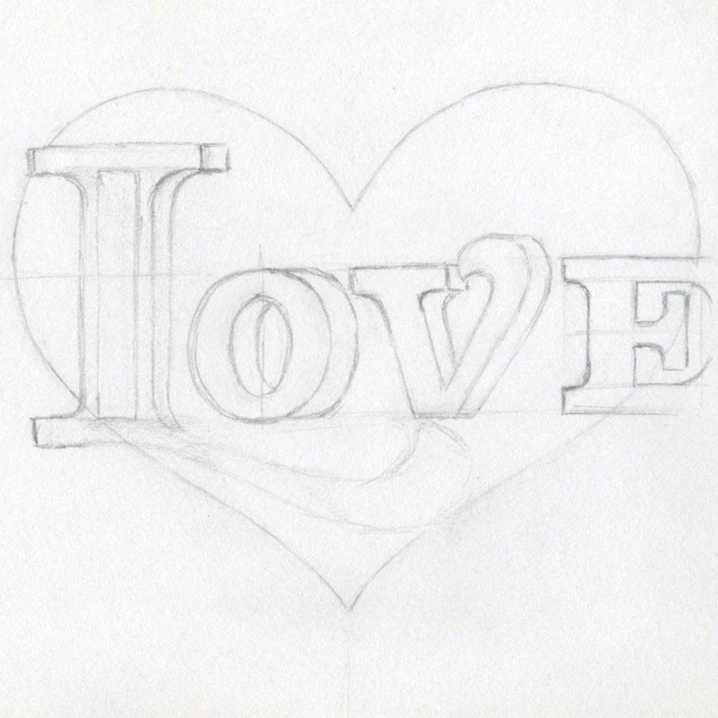 Easy Love Images To Draw