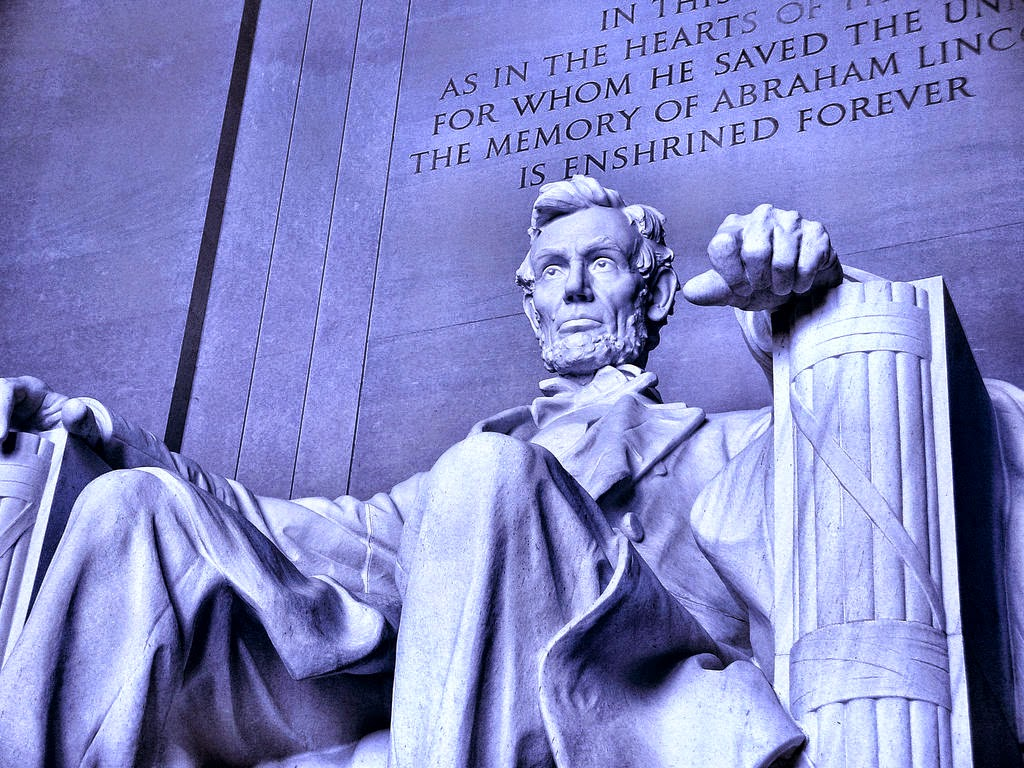"Photo of Lincoln Memorial ""Freedom"" by Scott Robinson, Some Rights Reserved"