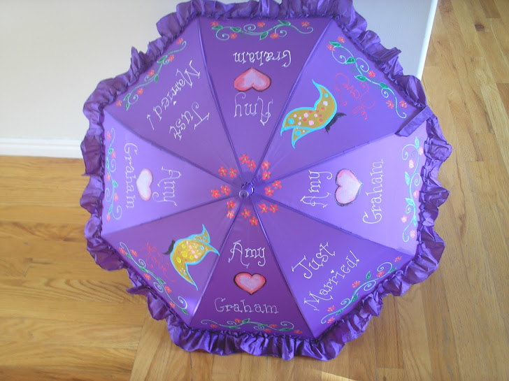 purple wedding parasol