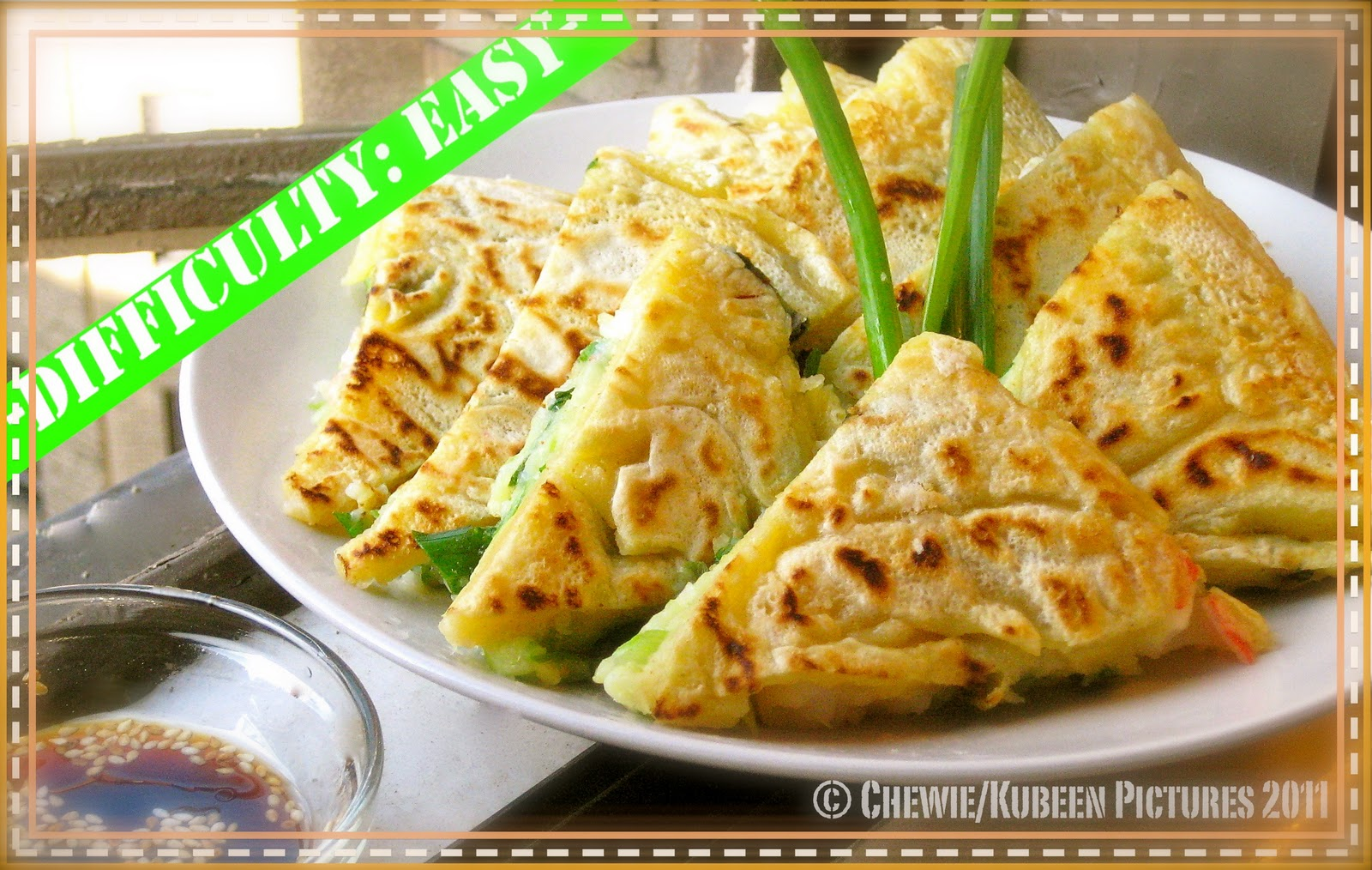 seafood green onion pancake is a popular korean side dish it is always ...