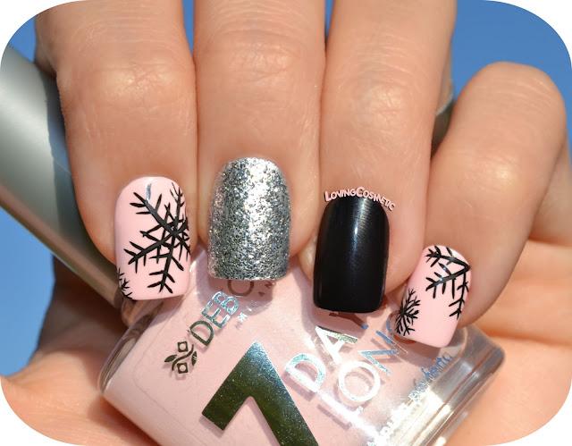 Nail art copos de nieve cosmetics - Copos de nieve manualidades ...