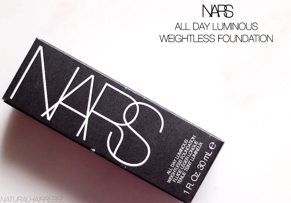 Nars Luminous Weightless Foundation - via NaturalHairRebel.com