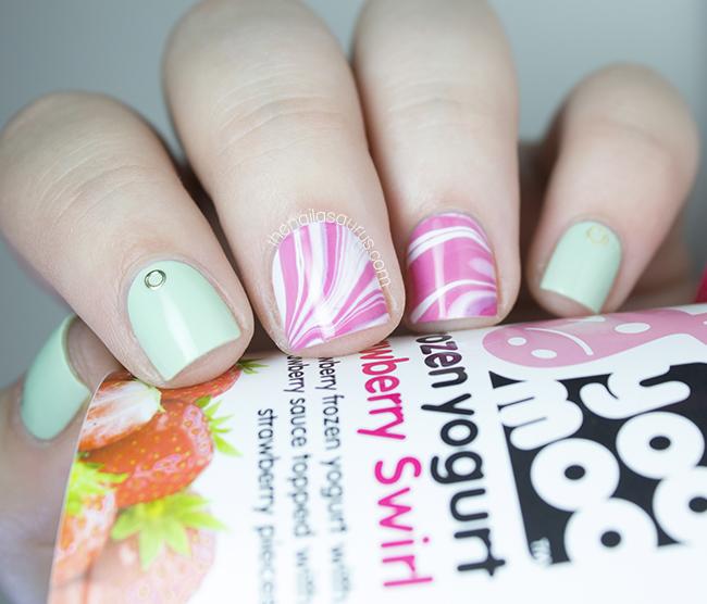 Pink Water Marble Nail Art | The Nailasaurus | UK Nail Art Blog