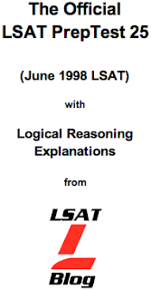 LSAT Blog PrepTest 25 June 1998 LSAT PDF