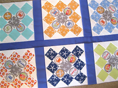 Quilt made with Going Coastal by Emily Herrick for Michael Miller Fabrics