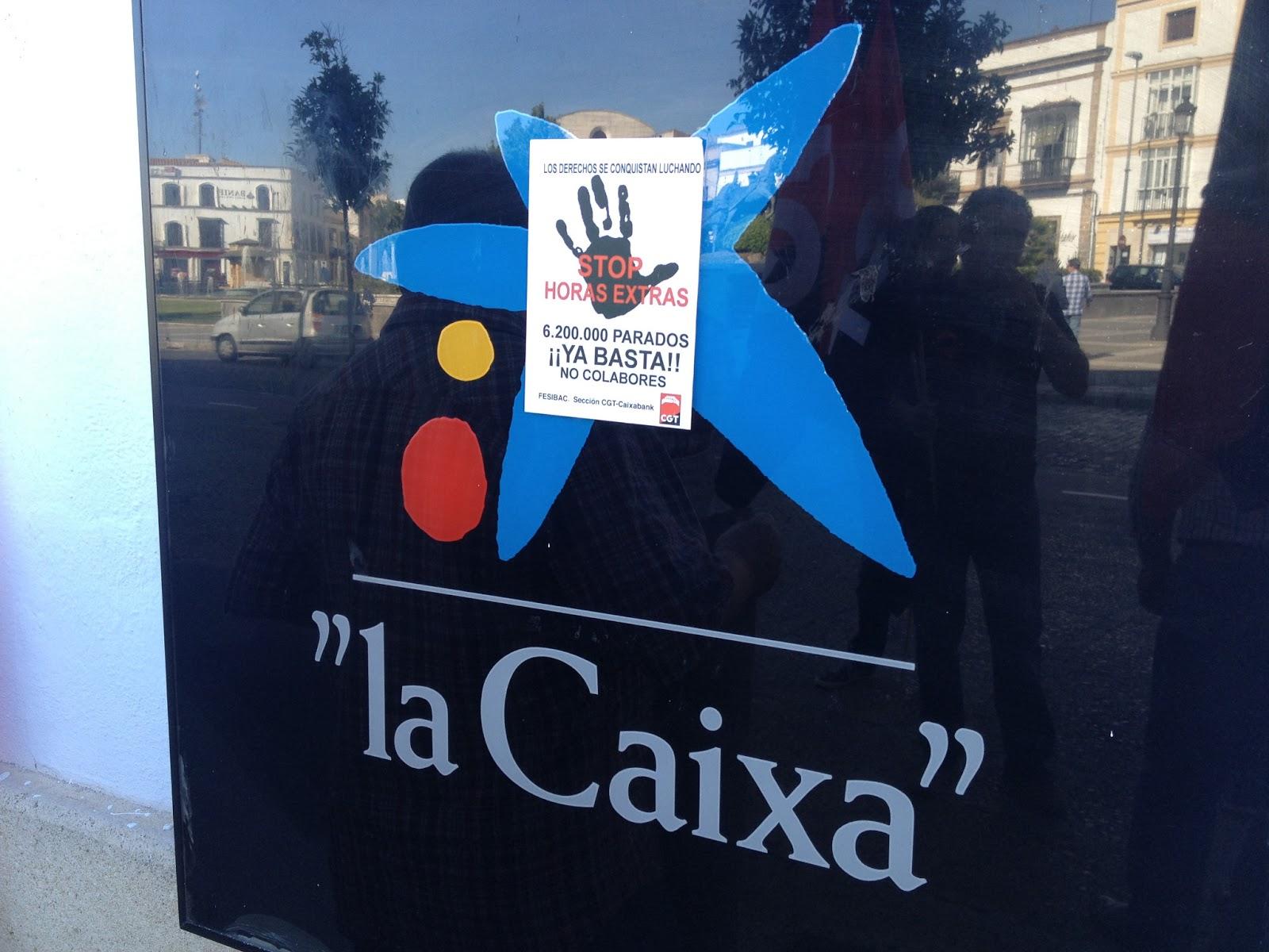 Comunicado cgt todo un desproposito contra la libertad for Localizador de oficinas la caixa