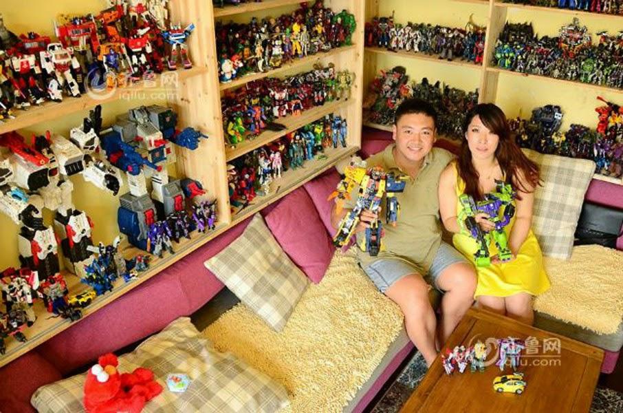 Zhang Wei e la sua collezione di Transformers