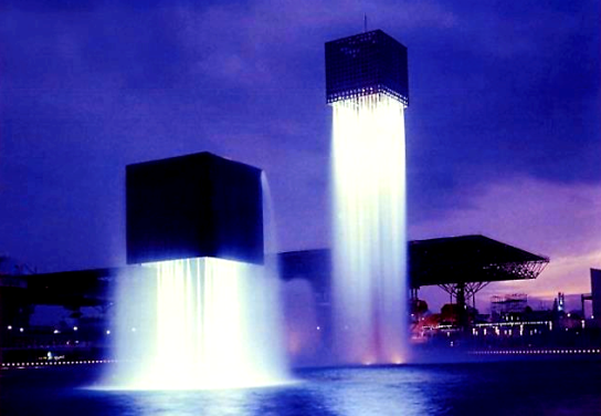 floating fountains by isamu noguchi Suita