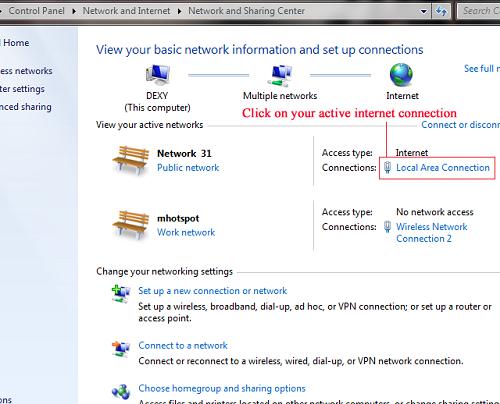 network+and+sharing Cara Share Koneksi Internet Melalui WiFi dengan mHotSpot