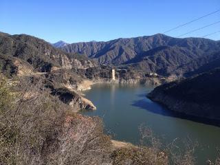 View northeast toward Highway 39, Morris Reservoir, and Glendora Mountain, Angeles National Forest