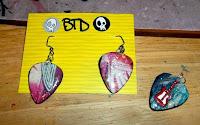 Back of earring pendants