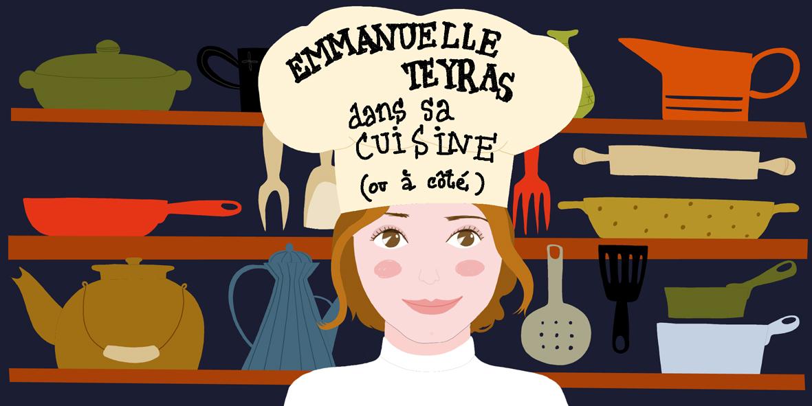 Emmanuelle Teyras dans sa cuisine
