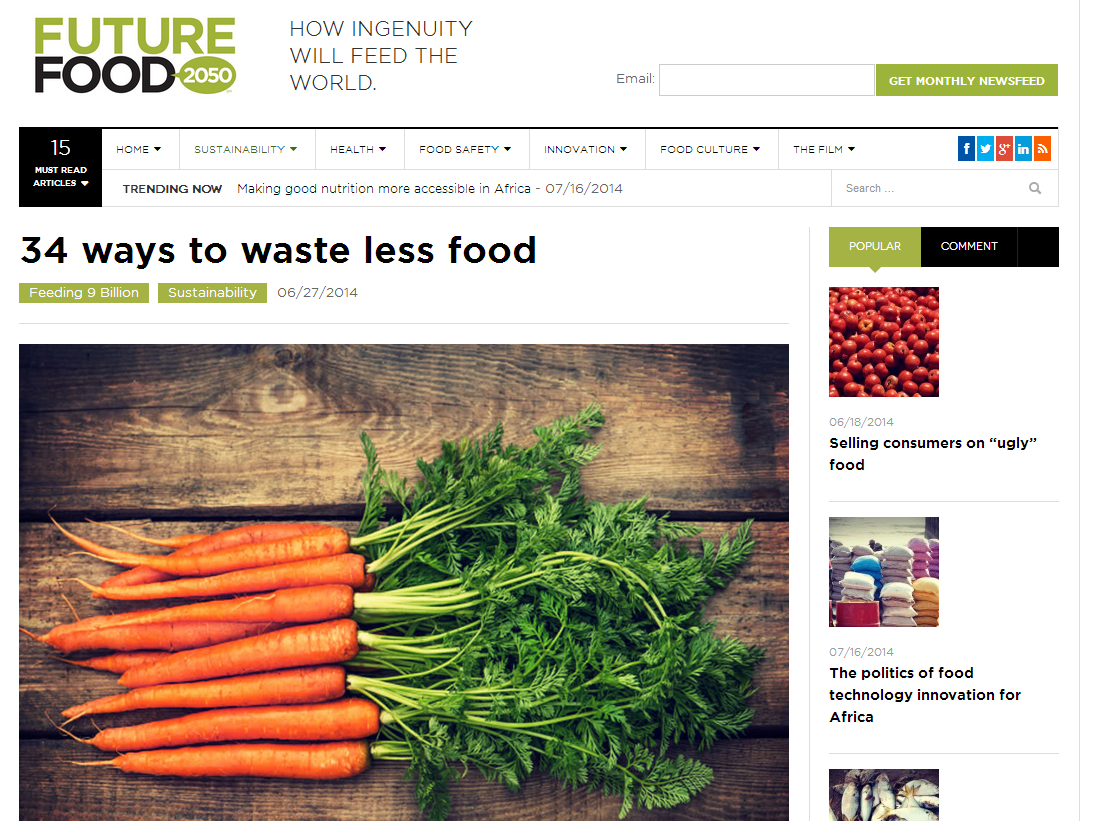 Food Waste and Freegans #FutureFood2050 #spon