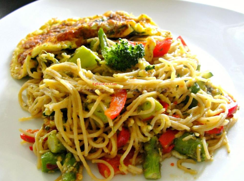 Pasta recipe with Vegetables