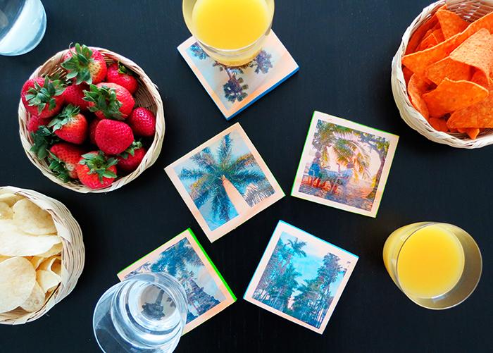 DIY photo coasters