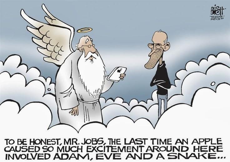 Funny Steve Jobs Heaven Apple Cartoon Joke Picture