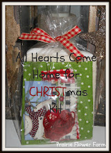 All Hearts Come Home for Christmas Stitchery Tea Towel Kit