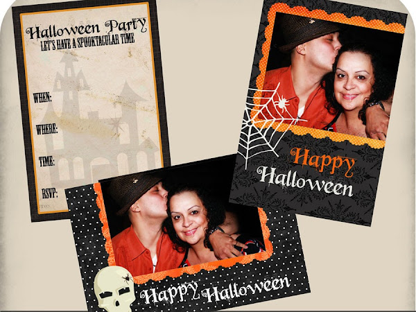 """A  """"Happy Halloween"""" Invite & Photocards Download For You"""
