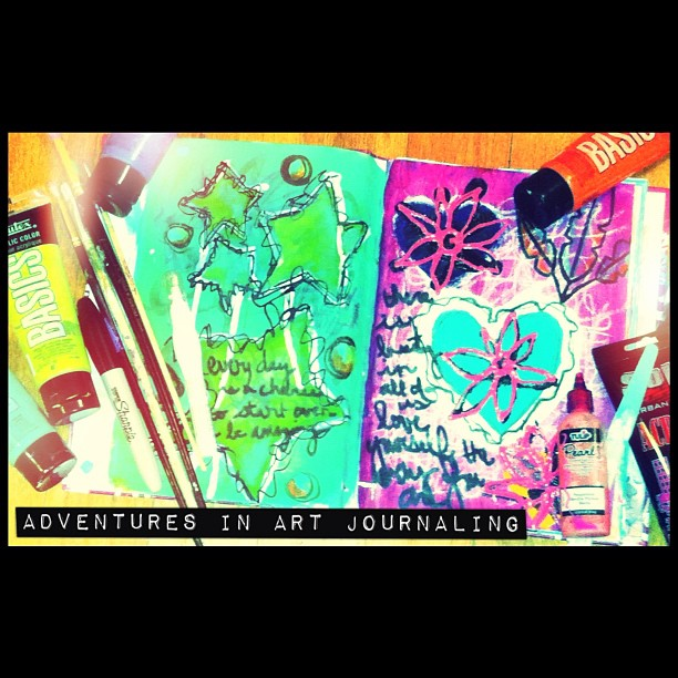 Adventures in art journaling