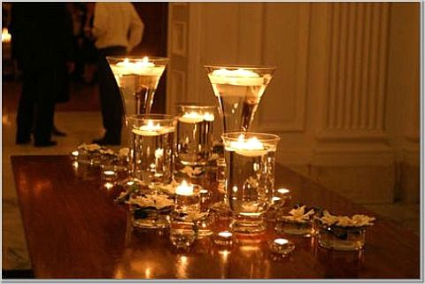 Kooklah do it yourself decorate candle votives for Candle centerpieces for weddings ideas