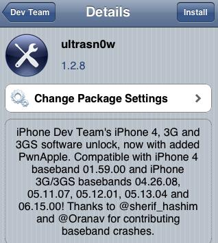 Step 5 : Ketika Ultrasn0w telah Terinstall di iPhone, Restar iPhone ...
