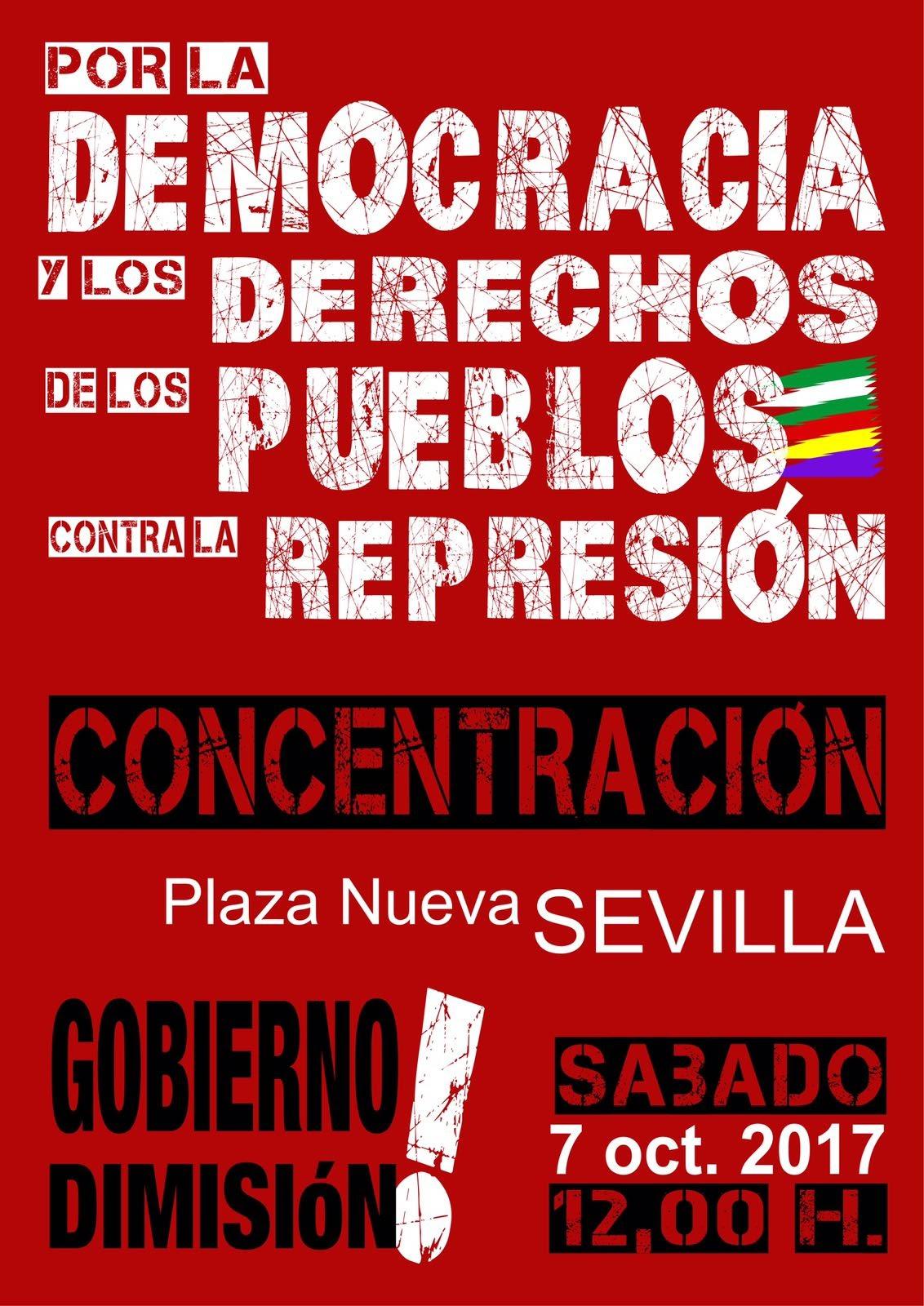 CONCENTRACIÓN EN SEVILLA: Sábado,7 octubre , 12 horas, Plaza Nueva.