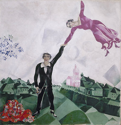 Chagall - The promenade 1917-18.