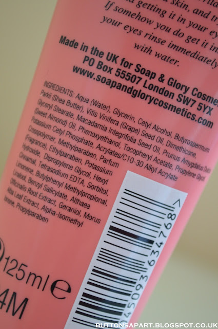 a picture of soap & glory hand food