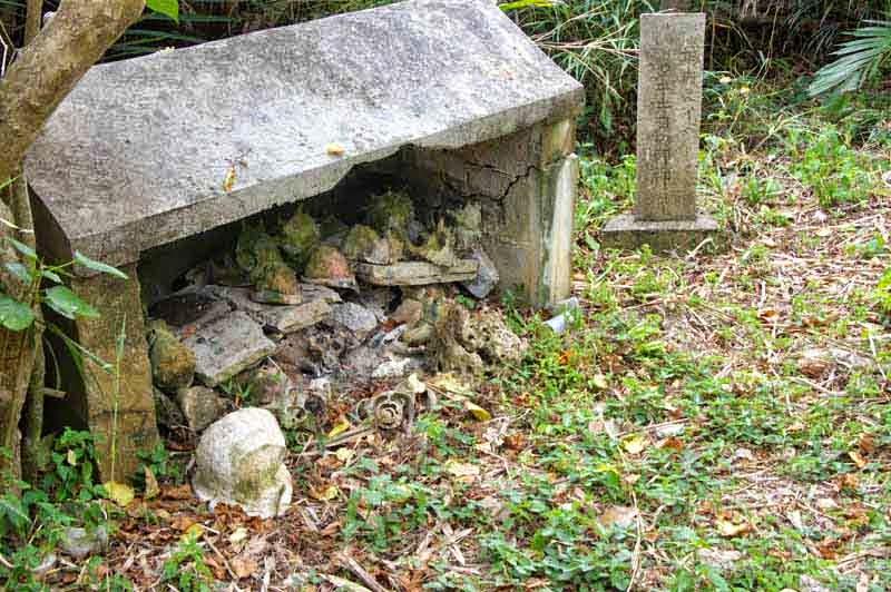 shrine, seashells, coins