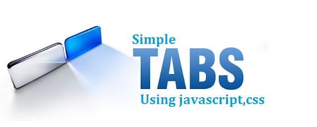 Simple Tabs Using Javascript and CSS